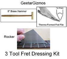 GeetarGizmos Guitar FRET INSTALL / DRESSING KIT Hammer File Rocker Luthier Tool