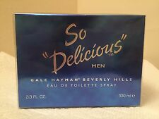 So Delicious by Gale Hayman Men Cologne EDT Spray 3.4 3.3oz 100ml NIB Sealed