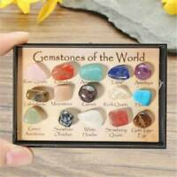 15Pcs Natural Chakra Tumbled Stone Mineral Crystal For Healing Feng Shui Decors