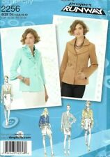 Simplicity Sew Pattern 2256 Project Runway, Jackets with Shape Options, 4-12 New
