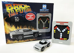 Exclusive Brick Loot Flux Capacitor with LED Light Lighting Kit Time Machine Car