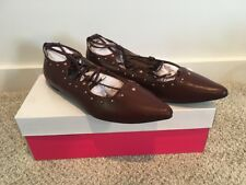 "NIB Womens Shoes Just fab ""Kinley"" Size 6.5 Lace up Leg Burgundy"