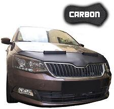 Haubenbra Skoda Fabia 3 CARBON Optik Steinschlagschutz Car Bra Hood Front Mask