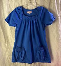 Koi By Kathy Peterson Royal Blue Size Small Scrub Top