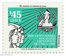 Chile 1991 #1503 Centenario Sociedad Cientifica de Chile MNH