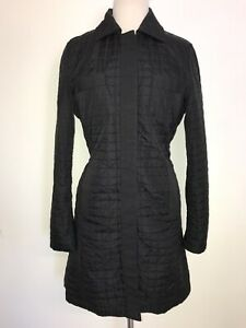 MAX MARA - Ladies BLACK Quilted COAT - Size 12-14 - LOVELY WARM JACKET