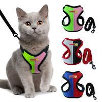Escape Proof Cat Walking Jacket Harness and Leash Pet Dog Adjustable Mesh Vest