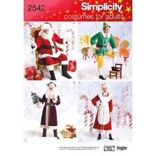 Simplicity Sewing Pattern 2542 Adult Costumes Christmas holiday Size XS-M Santa