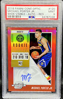 Michael Porter Jr 2018-19 Contenders Optic On Card Auto Red /149 RC PSA 9 POP 14