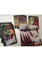 Marvel 3D Deadpool Legendary complete 14 card  Playable Set (includes rare)