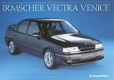 Prospekt 1991 Opel Vectra Irmscher Venice 8/91 Autoprospekt Auto PKW broschyr