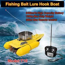 T10 RC Electric Bait Boat Carp Lure Fishing Equipment Run Time 5 Hours Yellow