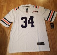 Walter Payton #34 Chicago Bears 100th Anniversary Throwback Jersey Hall Of Fame