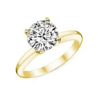 Solitär Diamant Brillant Ring 1,00 ct SI1 D 585 od. 750 Gelbgold alle Ringgrößen