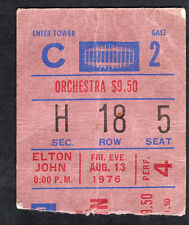 1976 Elton John concert ticket stub Madison Square Garden Louder Than Concorde