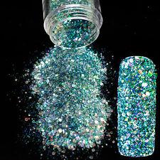 Nail Art Powder Mixed Reflective Sequin Nails Glitter Mix Size Green Design N261