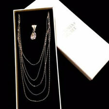 Victoria's Secret Layered Crystal Charm Backdrop Necklace Silver Valentine NEW!