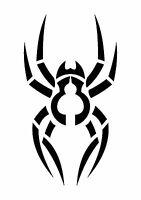Garden Wolf Spider Stencil, 350 micron Mylar not thin stuff #TaT0117