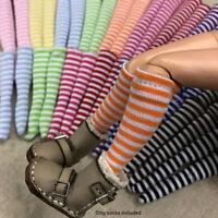 Weihnachten Geschenk 1 /6 Strümpfe Accessoires für Puppen Stripe Socken