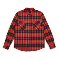 BRIXTON BOWERY L/S FLANNEL SHIRT RED /NAVY