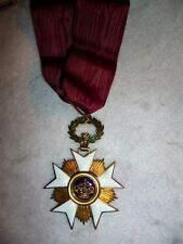 Belgium, Order of the Crown, Commander's Neck Badge Medal with Ribbon