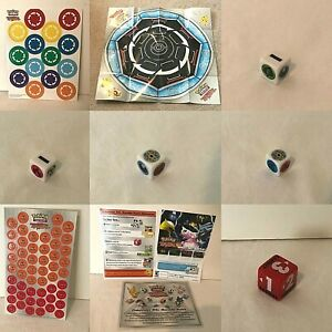 Pokemon Rumble Card Game CHOICE Accessories Damage Counters Energy Dice Playmat