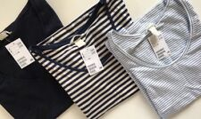BUNDLE OF H&M TOPS Vests SIZE S AND M New With Tags Navy Blue Striped Nautical