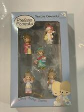 Precious Moments Ornaments Loving Caring Sharing 2002 Set of 5 Miniatures