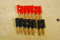 NEW 14 Gold Banana Male Speaker Plugs 7 black & 7 red