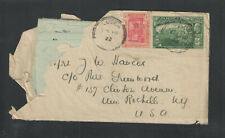 1922 Jamaica Cover To Usa w/ 2 Page Handwritten Letter