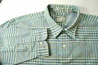Levi's Silver Label Men L Shirt Blue Plaid Long Sleeve Button Up Polyester Blend