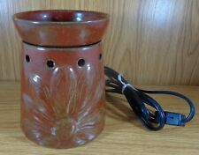 SCENTSY Wax Warmer Full Size Brown Boho Sunflower Design