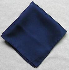 Hankie SILK Pocket Square Handkerchief MENS Hanky NAVY BLUE