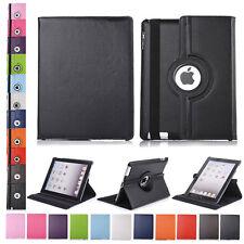 360 Rotating PU Leather Folio Case Smart Cover Stand For Apple iPad 2 3 4 Mini