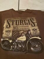 Sturgis 2013 Bike Week 73rd Black Hills Rally T-shirt Men's Size Medium (X50)