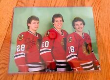 Chicago Blackhawks Steve Larmer and Dennis SAVARD  Signed Auto 11x14 photo