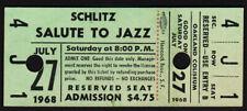 Thelonious Monk + Dizzy Gillespie *Rare* Schlitz Jazz Fest 1968 Concert Ticket