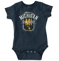 Vintage Michigan Sports University Gift MI Newborn Romper Bodysuit For Babies