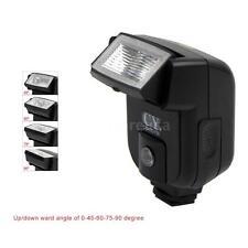 YinYan CY-20 Mini Flash Speedlite Hot Shoe Sync Port Pitch Angle for Camera O1J7