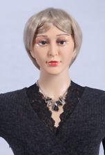 Perruque Weiblich (Féminin) pour Mannequin de Vitrine Blond / Gris D4 Femme,Neuf