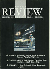 GAMES REVIEW MONTHLY MAGAZINE - #5 (BOARDGAMES, RPG'S ETC.) 1989