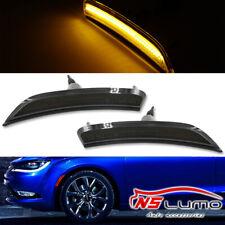 Smoked Lens Front LED Side Marker Lights For Chrysler 200 2015 2016 2017 Amber