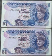 Rm 1 Aziz Taha 5th series cons pair AP 8462123 - 124 TDLR unc