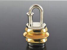 Authentic HERMES Goldtone x Silvertone Lantern Cadena Lock Pendant Charm