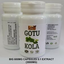 60 Gotu Kola Extract Capsule, Pure Herb, Centella Asiatica, For Memory, Anxiety
