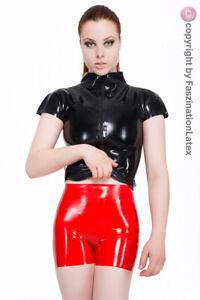 LATEX Hotpants - sexy Hose für SIE & IHN in ROT