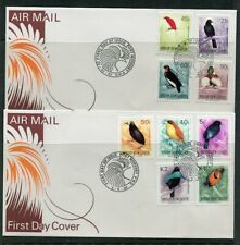 FIRST DAY COVER.... Birds on Stamps.  PNG  1992  9 birds on 2 covers