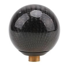 Round Ball Shape Black Carbon Fiber Universal Car Gear Shift Knob Shifter Lever
