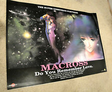 "Macross Do You Remember Love PS2 Promo Poster Official Japan 28""x 23"" Large"