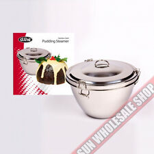 100% Genuine! D.LINE Christmas Stainless Steel 2 Litre Pudding Steamer!